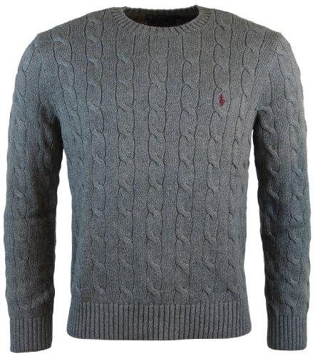 Polo Ralph Lauren - Maglione in cotone da uomo, taglia S, colore: Grigio