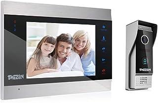 TMEZON Video Doorbell Intercom System, 1080P Sistema de Entrada de la Puerta con 7 Pulgadas 1-Monitor 1-Camera para la cas...