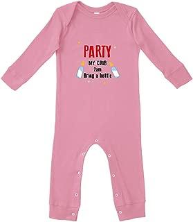 Party My Crib 2Am Bring A Bottle Bodysuit Legged Long Rib Coverall