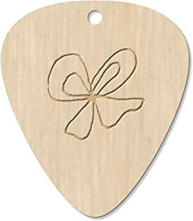 7 x 'Bow of Ribbon' Guitar Picks / Pendants (GP00023907)