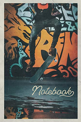 Notebook: Skateboarding and Graffiti Beautiful Composition Book Journal Diary for Men, Women, Teen & Kids Vintage Retro Design Skateboard Tricks
