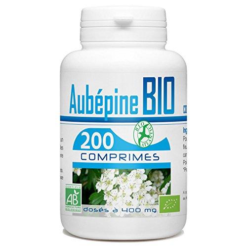 France Herboristerie Aubépine Bio 400 mg 200 Comprimés