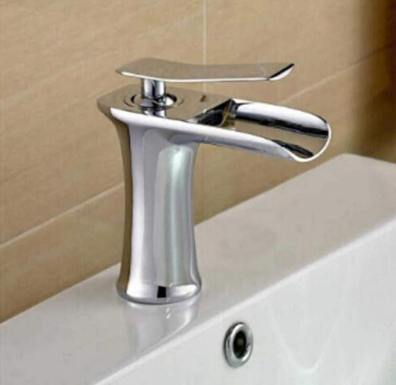 Brass Wall Faucet Chrome Brass Faucet Tap Cold and Hot Basin Crane Sink Faucet Bathroom Basin Faucet