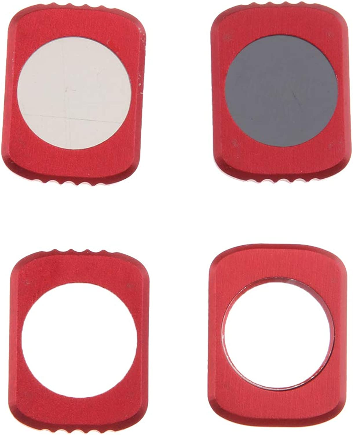 Baosity 4 Pieces Camera Lens Filters Set 12.5X Star CPL ND16 Compatible for OSMO Pocket Red