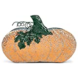 Napco Galvanized Orange Oval Pumpkin 15.5 x 6...