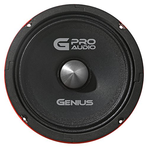 "Genius GPRO-M0665 6.5"" 300 Watts-Max Midrange Car Audio Neodymium Speaker 4-Ohms Paper Cone"