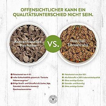 Pets Deli Nourriture pour Chats 8 x 85 g bœuf et Dinde | 100% qualité Alimentaire, sans additifs inutiles | Alimentation Humide pour Chats sans céréales | Haute Proportion de Viande