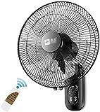 TANKKWEQ Ventilador de Pared oscilante, Ventilador de Montaje en Pared Oscilando 7.5h Invernadero residencial, Industrial, Comercial con Control Remoto (Color : Remote Control)