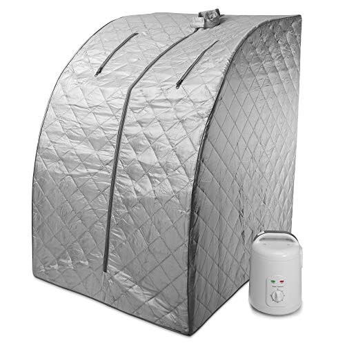 Durherm Portable Personal Therapeutic Spa Home Steam Sauna Weight Loss Slimming Detox (Gray Outline)