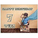Tortenaufleger mit Wunschfoto und Wunschtext Geburtstag