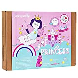 jackinthebox Princess Themed Arts and Crafts for Girls   Make a Cape, Tiara and Wand   Best Gift for Girls Ages 4 5 6 7 8 Years   3 Craft Projects in 1 Box