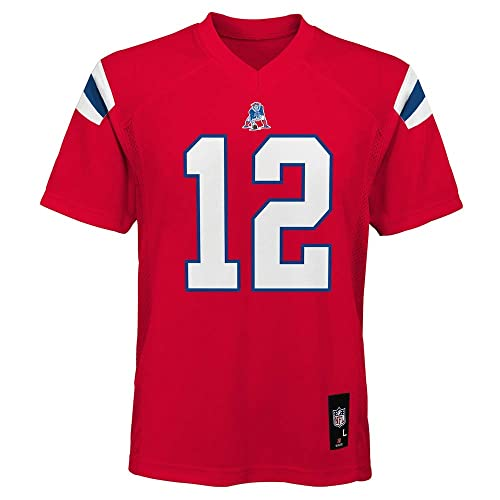 Tom Brady England Patriots NFL Toddler Red Alternate Mid-Tier Jersey 3ffea045e