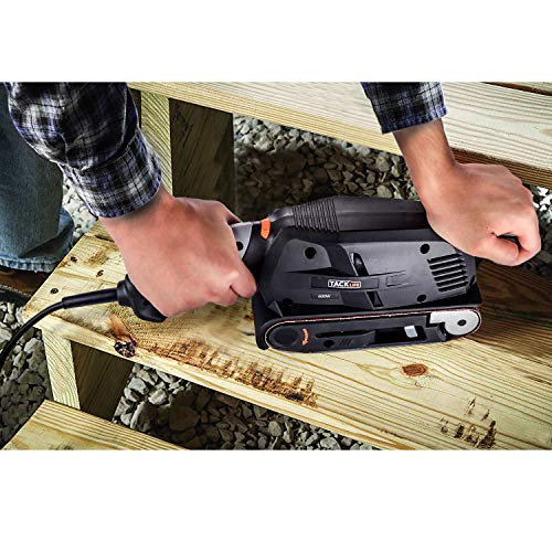 TACKLIFE Belt Sander 3×18-Inch with 13Pcs Sanding Belts, Bench Sander with Variable-speed Control, Fixed Screw Clamps, Dust Box, Vacuum Adapters, 10Feet (3 meters) Length Power Cord PSFS1A