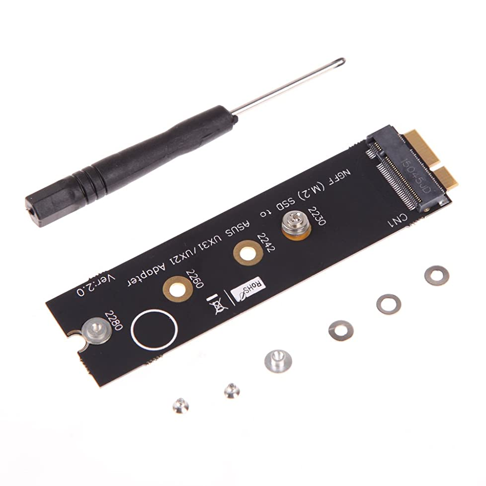 コントロール経営者ビールvolflashy M.2(NGFF)SSD to 18ピンSSDアダプタ Asus UX31 UX21 Zenbook用
