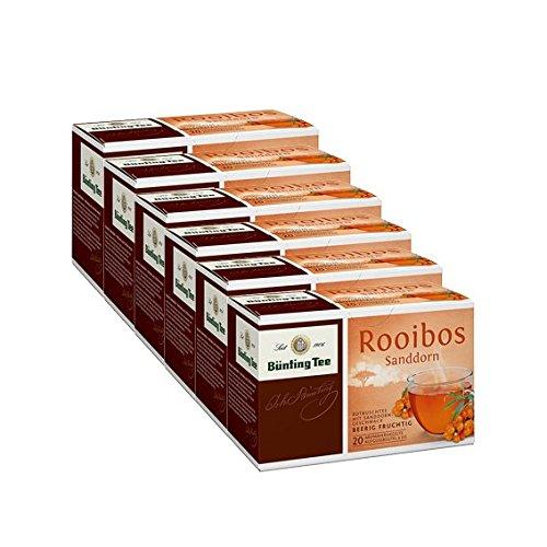 Bünting Tee Rooibos Sanddorn, 6er Pack