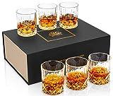 KANARS 6 Pièces Verres à Whisky, 300ml Verre a Whiskey en Cristal, Belle Boîte Cadeau