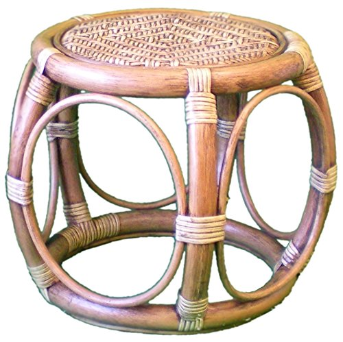 Wicker Barrel Table or Stool - 2-Tone 'Antique' Colour