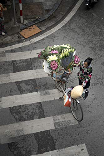 Flower Delivery by Bike in Hanoi, Vietnam Journal: Take Notes, Write Down Memories in this 150 Page Lined Journal