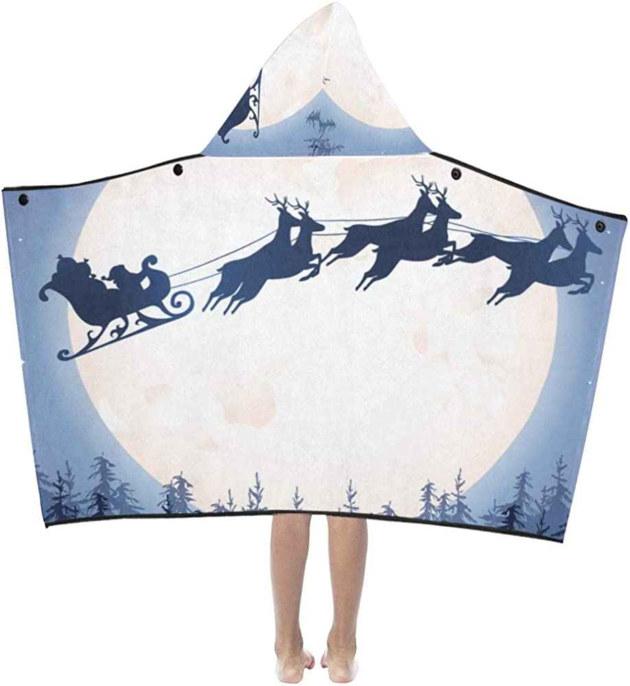 Baby Blanket Throw Santa's Sleigh On Night Sale special price famous Kids Hooded Blank Sky
