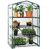 Best Choice Products 40in Wide 4-Tier Mini Greenhouse, Portable Indoor Outdoor Arboretum for Patio, Backyard, Nursery, Home Growing w/Steel Shelves, Plastic Cover, Roll-Up Zipper Door