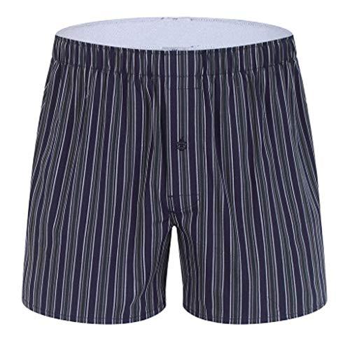 Herren American Boxershorts,Unterwäsche Herren Beiläufige Boxershort Pyjama Plaiddruck Sports Trunk Unterpant HULKY(Schwarz 1,2XL)