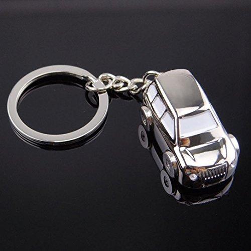 Gaddrt Modèle de voiture en alliage de style voiture porte-clés porte-clés auto trousseau pendentif, 1pc