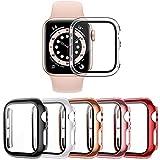VASG [5 Stück] Hülle Kompatibel mit Apple Watch Series 6/5/4/SE 44mm PC Gehäuse mit Glas Hartglas...