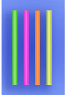 "Wow Plastics Inc. Colossal Straw 8.5"" - Neon - 2/650 (1,300/Case)"
