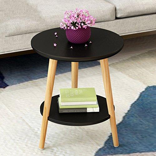 LTM-MPZ massief hout ronde tafel moderne hoek salontafel woonkamer bank zijtafel 40 * 30 * 45cm