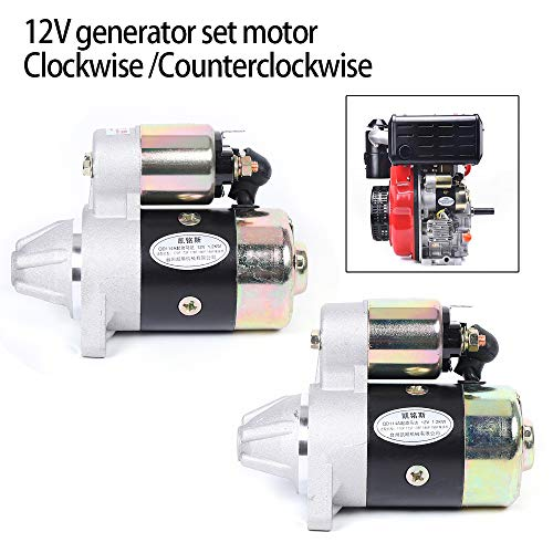TFCFL Air-Cooled Diesel Engine Start Motor Pump Electric Starter Generator Set Motor Starter 12V (Clockwise)