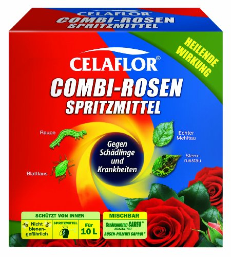 Celaflor Combi-Rosenspritzmittel, Rundumschutz für Rosen mit fungizidem und insektizidem Wirkstoff - 2 x 100 ml
