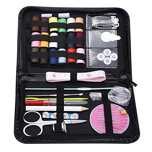 kokome Portable Sewing Kit Sewing Accessories for Home Travelling and Emergency Use (Black)