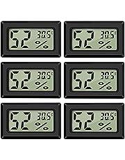 Thlevel LCD digital temperatur luftfuktighetsmätare termometer, mini digital termometer hygrometer och fuktighetsmätare för växthus/bilar/hem/kontor, svart