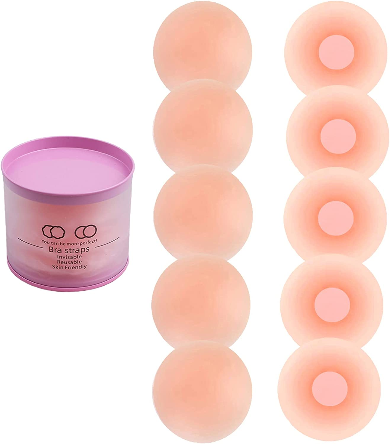 5 Pairs-Silicone Classic Nipple Covers Invisible Adhesive Brea Reusable outlet