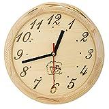 Jarchii Sauna Uhr, einfache Sauna Timer Clock Zubehör Wanduhr Home Decor Angemessene Größe und...