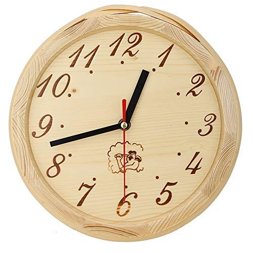 FILFEEL Cadeau de Juillet Minuterie de Sauna, Simple Horloge de minuterie de Sauna Accessoire Horloge Murale décor à la Maison pour Sauna, Chambre à Coucher, Salon (9,1 Pouces)