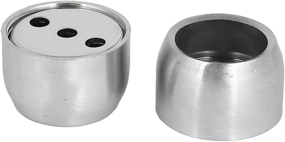 Aexit 22mm Dia Weatherproofing Stainless Steel Closet Rod Flange