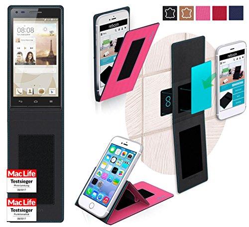 reboon Hülle für Huawei Ascend P7 Mini Tasche Cover Hülle Bumper | Pink | Testsieger