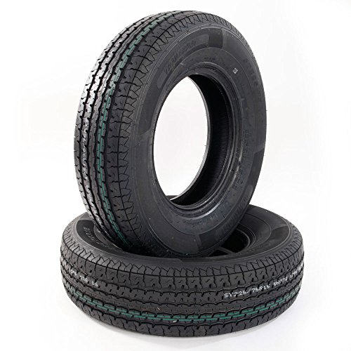 Set of 2 Radial Trailer Tubeless Tires ST22575R15 10 Ply Speed Rating/L 2257515 Radial Trailer Tires 225/75r15 Load Range E