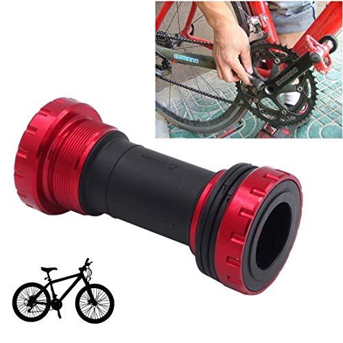 HQ's perfect store Équipement de vélo Alliage de Bicyclette en Plastique, Support en Aluminium de 68 à 73 mm, adapté à Shimano, vélo de Montagne. Sûr et Pratique (Couleur : Rouge)