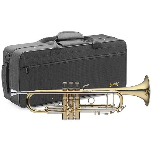 Stagg LV-TR5205 B-Trompete, Mundrohr in Goldmessing, im Softcase