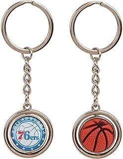 aminco NBA Philadelphia 76ers NBA-KT-827-06 Spinning Keychain, One Size, Multicolor