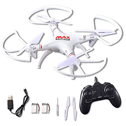 RC Helicopter Drone Toy, Quadcopter 2.4Ghz 6-Axis Gyro 4 Channels with Altitude Hold, Ideal Drone for Starter Training