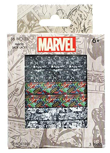 Marvel Printed Shoelaces, 3 Pairs