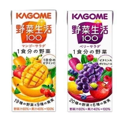 カゴメ 野菜生活 マンゴーサラダ&ベリーサラダセット (各6本・計12本)