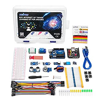 OSOYOO WiFi Internet of Things Learning Kit for Arduino | Include ESP8266 WiFi Shiled | Smart IOT Mechanical DIY Coding for Kids Teens Adults Programming Learning How to Code