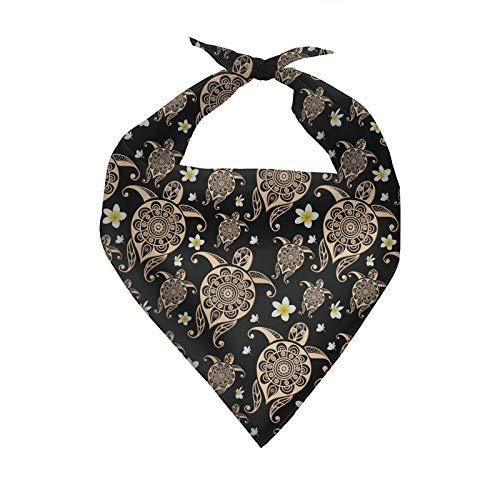 COEQINE Bandanas para perros de tamao pequeo, bufandas con estampado de tortugas marinas, baberos diarios, pauelo triangular, lavable para mascotas, baberos
