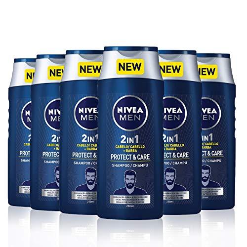 Nivea Men Shampoo - 6 x 250 ml (Total 1500 ml)