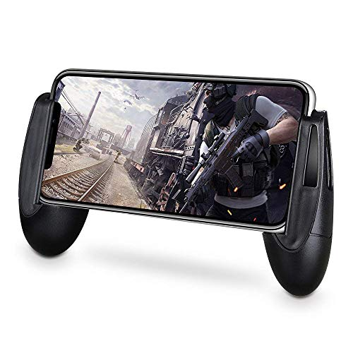 Usee 荒野行動 コントローラー PUBG Mobile ゲームパッド ハンドル 耐衝撃 軽量 手触りよい 保護型 iPhone/Android各種スマホ対応 2点セット ブラック