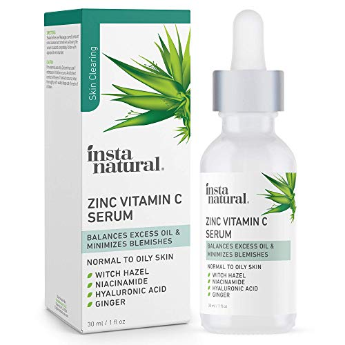 Vitamin C Face Serum with Niacinamide and Zinc - Acne Treatment & Pore Minimizer - Clarifying Blemish Remover & Breakout Reducer - Oil Control for Oily Skin - Anti Aging & Wrinkle Facial Skin Care